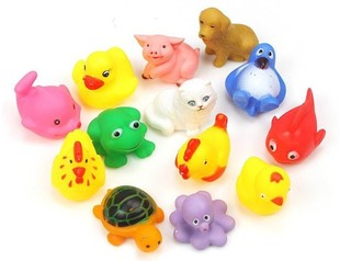 Animales-encantadores-de-bebé-niños-Swiming-baño-juguetes-de-agua-Sounding-juguetes-de-baño-Animal-de